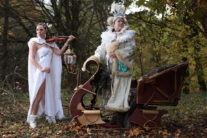 Performance with live violin. Narnia Snow Queen with Ice Maiden Violinist